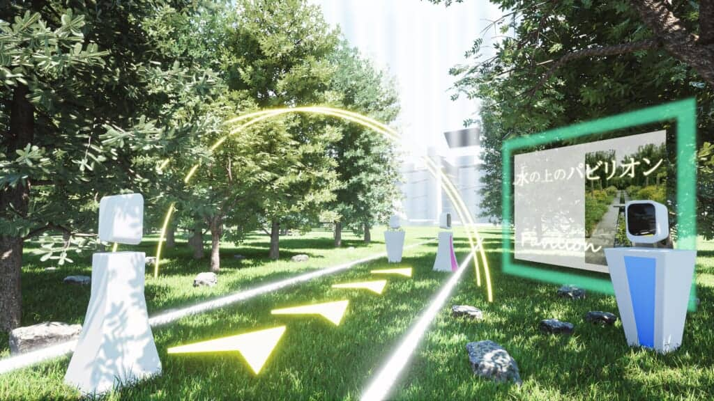 Sample image of future plans for the virtual platform for the Japan Cultural Expo