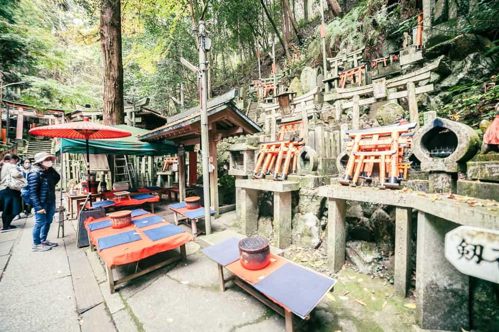 Rest area in Fushimi Inari Shrine in Japan