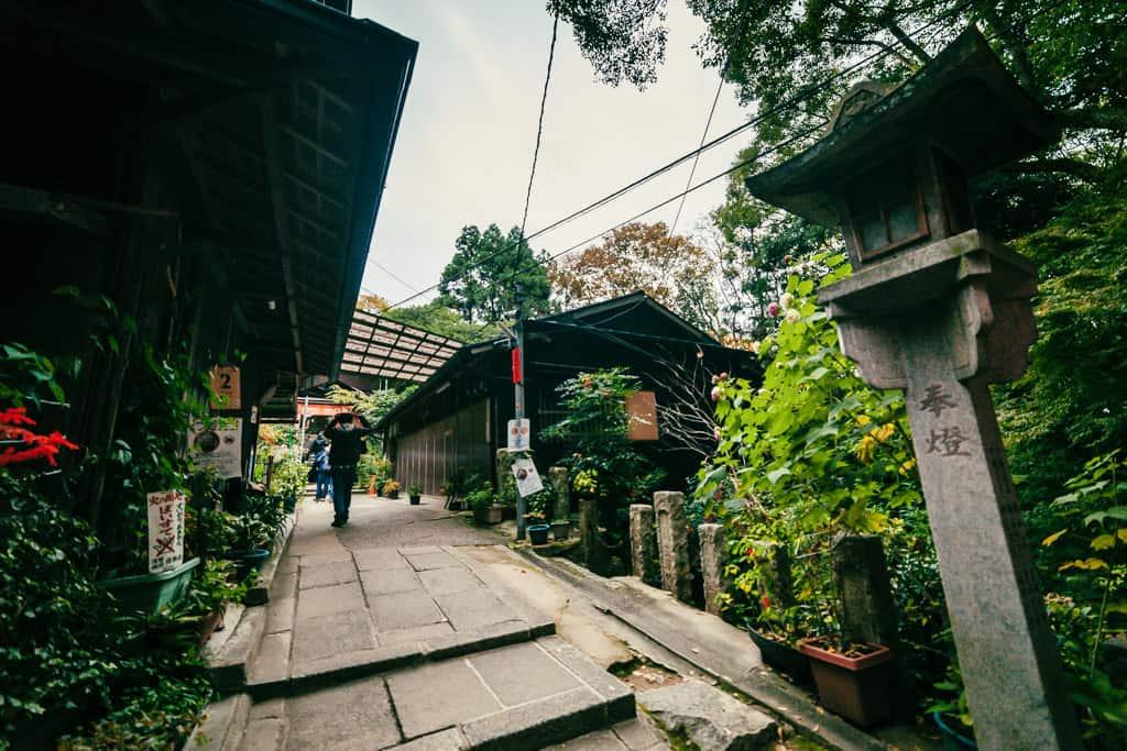 view of japanese shrine walkway at Fushimi Inari Taisha