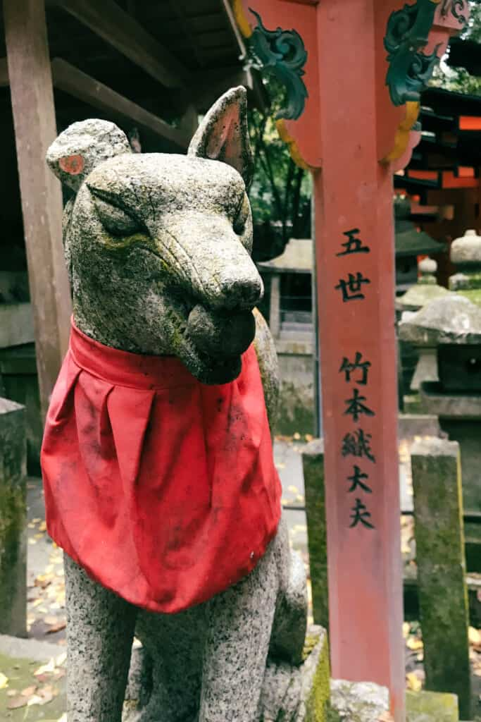japanese fox statue