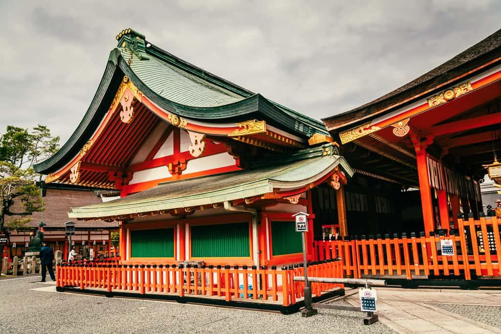 Main pavilion of Fushimi Inari Taisha in Kyoto, Japan