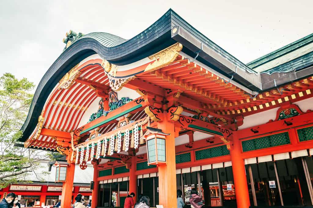 Inner pavilion of Fushimi Inari Taisha  in Kyoto, Japan