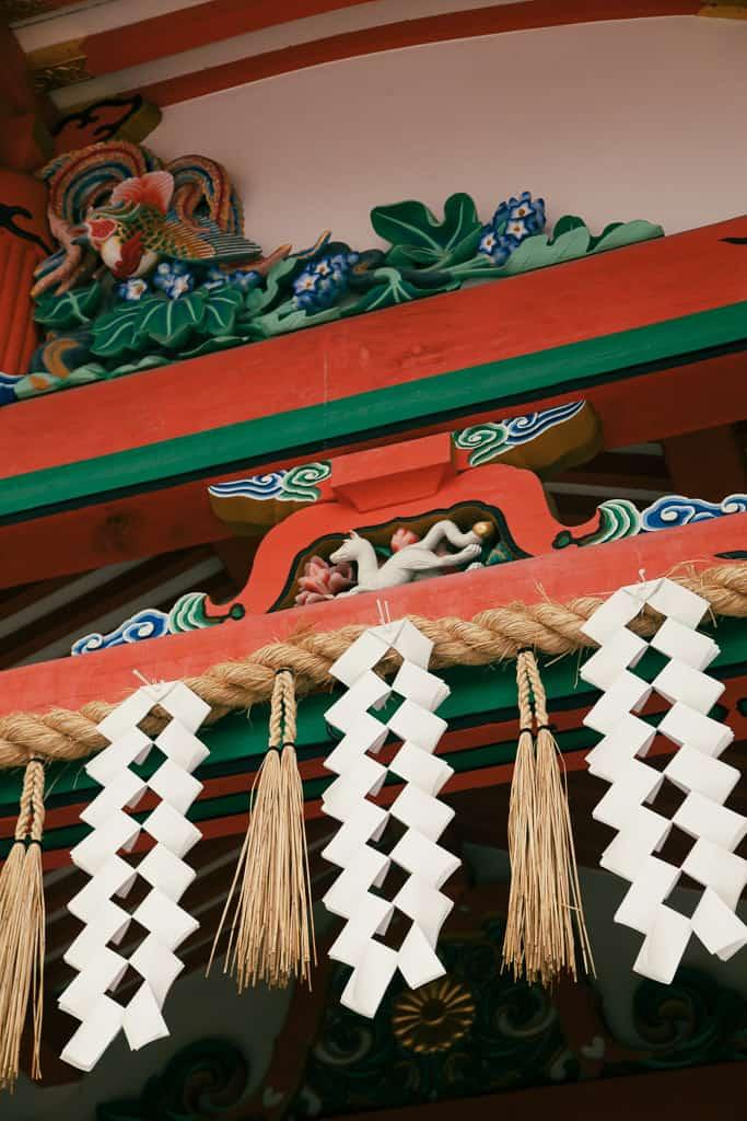 Detail of Fushimi Inari Taisha Indoor Pavilion