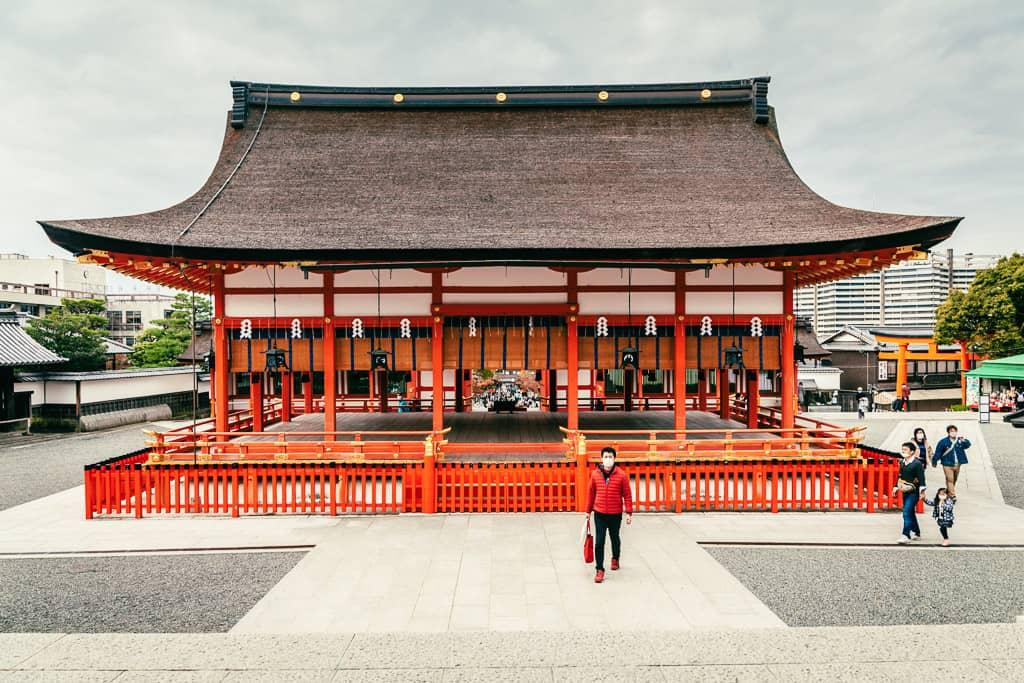 Outer pavillion of Fushimi Inari Taisha Shrine in Japan