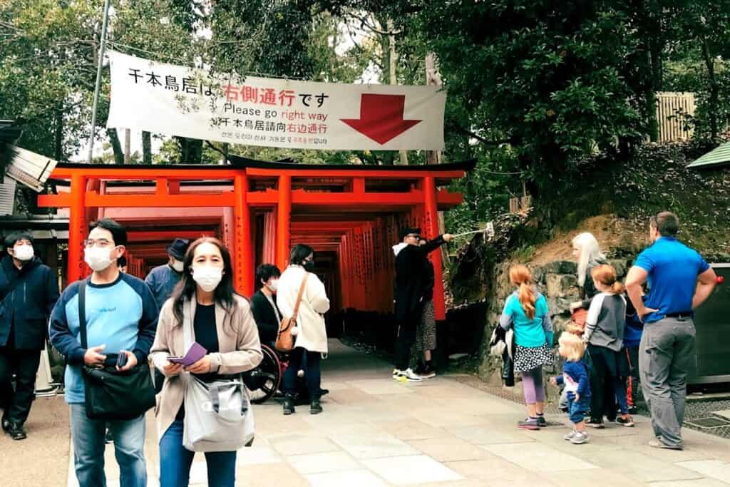 Senbon Torii gate in kyoto, japan