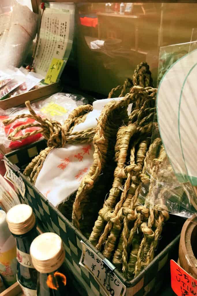 Handmade sandals for offerings