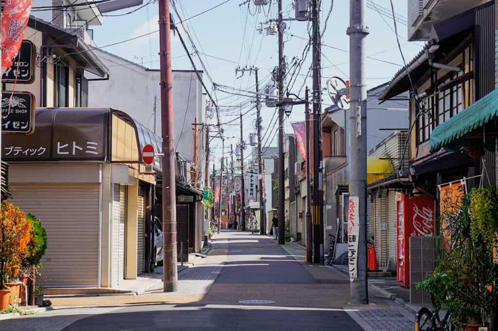 Japanese street in Kyoto