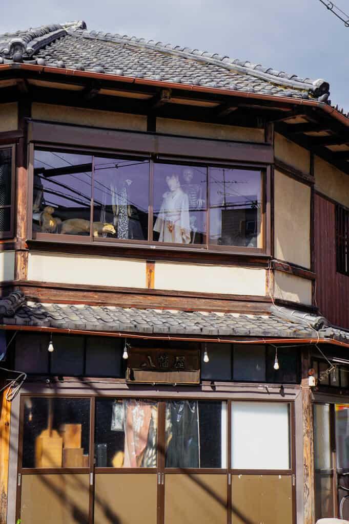 yokais through the window in kyoto