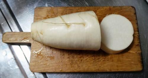 Le daikon, un légume japonais que l'on retrouve parfois dans la soupe miso.