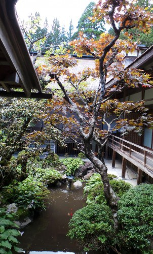 "Petit jardin intérieur ""Nakaniwa"" au temple Kongōbu-ji, mont Koya"
