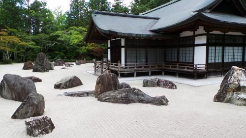 Banryūtei, plus grand jardin de pierres du japon au temple Kongobu-ji, mont Koya