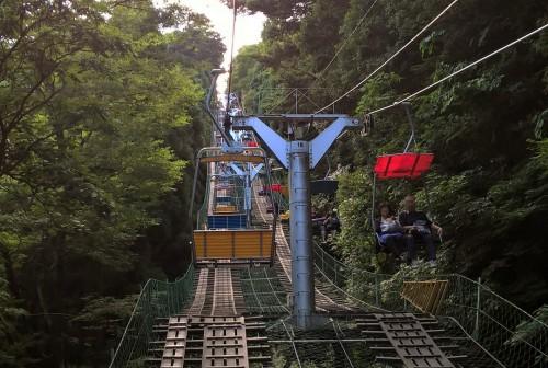 Télésiège du mont Takao pour atteindre le sommet sans se fatiguer
