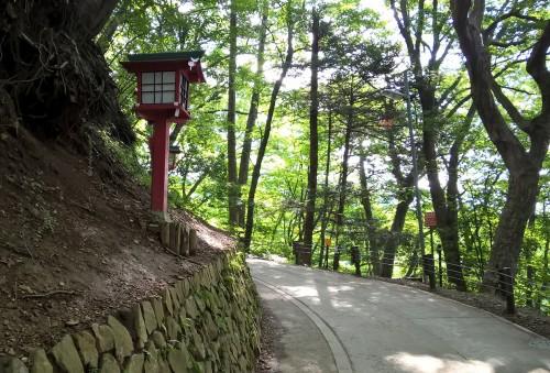 Sentier de randonnée au mont Takao près de Tokyo