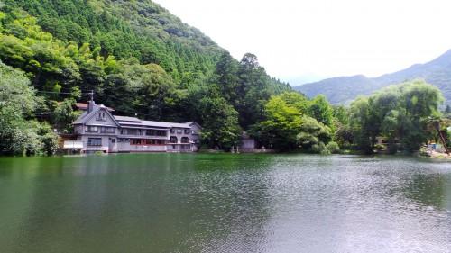 Le lac Kinrin-kô de Yufuin, préfecture d'Oita sur l'île de Kyushu