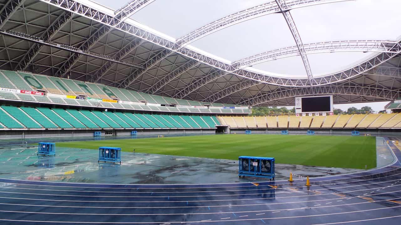 Ōita : visite du stade « Ōita Bank Dome » qui accueillera la coupe du monde de rugby de 2019