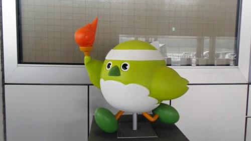 Meijiron, mascotte du stade « Ōita Bank Dome » qui accueillera la coupe du monde de rugby au Japon de 2019 sur l'île de Kyushu