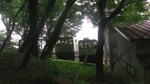 Monorail du parc aux singes de Takasakiyama, entre Beppu et Oita sur l'île de Kyushu