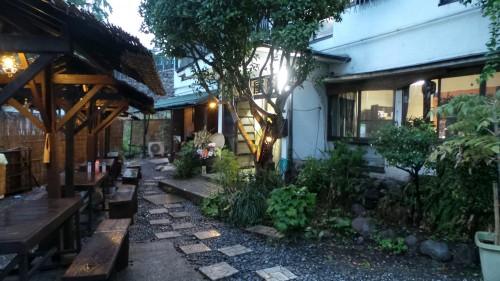 Façade de mon ryokan dans le quartier de Kannawa à Beppu sur l'île de Kysuhu