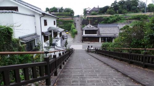 La « Suya no Saka » ou « pente du fabricant de vinaigre » de Kitsuki sur l'île de Kyushu
