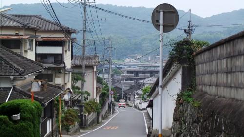 La ville de Kistuki et ses maisons de samouraïs de la période Edo, dans la péninsule de Kunisaki sur l'île de Kyushu