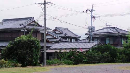 Vieilles maisons de samouraïs de la période Edo à Kistuki, dans la péninsule de Kunisaki sur l'île de Kyushu