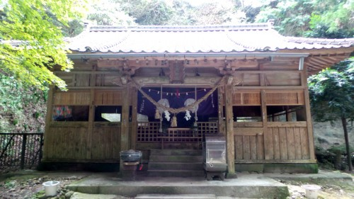 Temple en bois au Kumano-magai-butsu, dans la péninsule de Kunisaki, préfecture d'Oita sur l'île de Kyushu