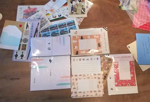 Enveloppes, timbres et papier à lettre japonais