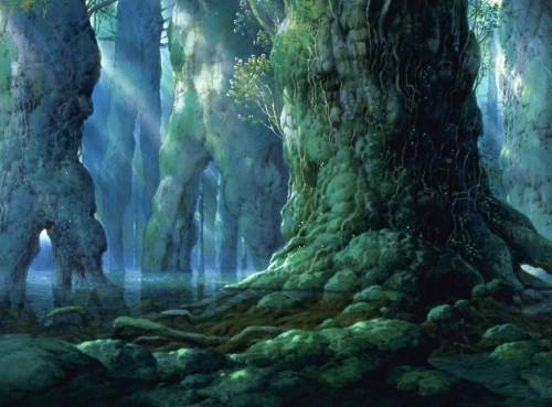 """Capture du film """"Princesse Mononoké"""" inspiré par Yakushima"""