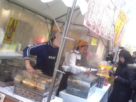 Stand de Oden à la fête des Oden de Shizuoka