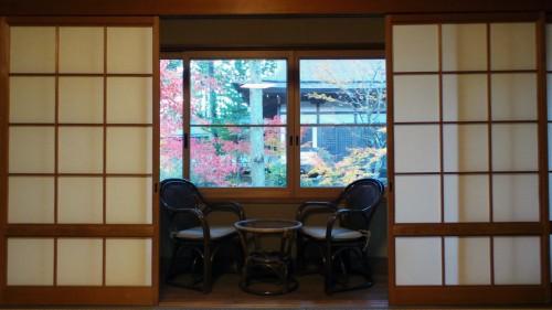 Chambre dans un temple du Mont Koya, Japon.