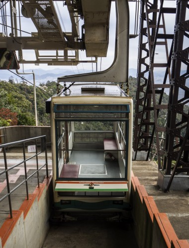 Téléphérique du mont Misen sur l'île de Miyajima, Japon.