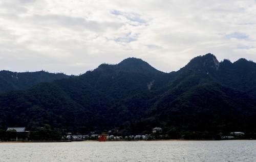 Vue du Matsudai Ferry pour se rendre d'Hiroshima à Miyajima.