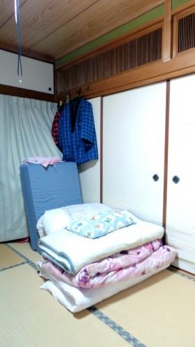 Expérience en Nouhaku à Izumi : chambre traditionnelle japonais avec futon