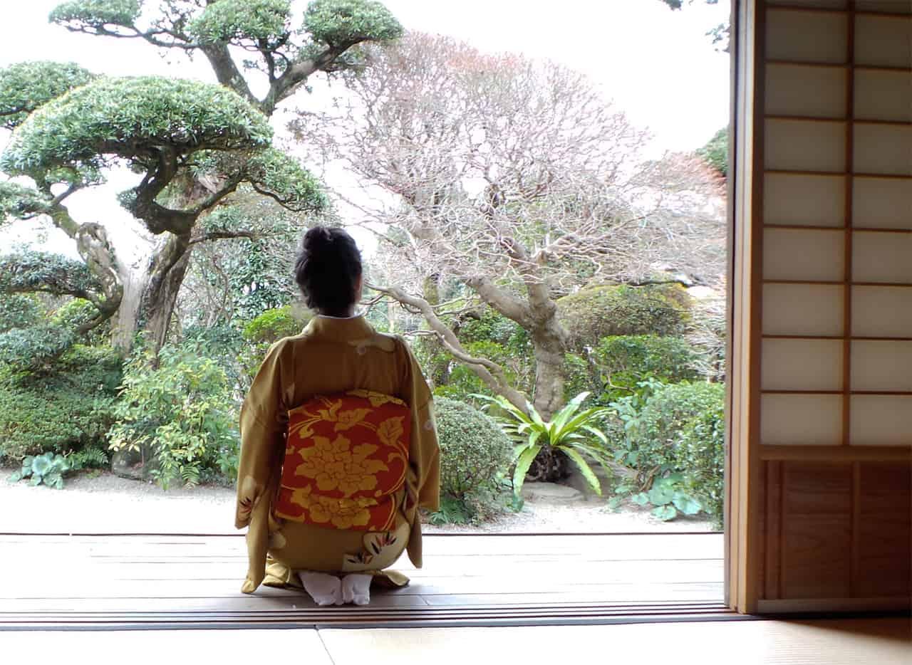 Izumi : cérémonie du thé en kimono dans une ancienne maison de samouraï