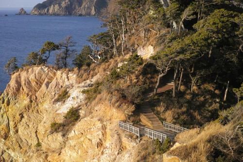 Le parc Koganezaki dans la péninsule d'Izu, Shizuoka.