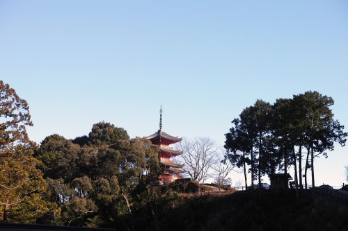 Pagode du temple Okuyama Houkouji dans la ville d'Hamamatsu, préfecture de Shizuoka