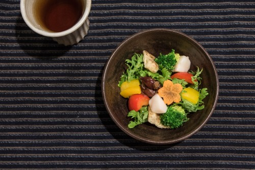 un plat du restaurant Nagomi Cha-Ya de yuba à Nikko
