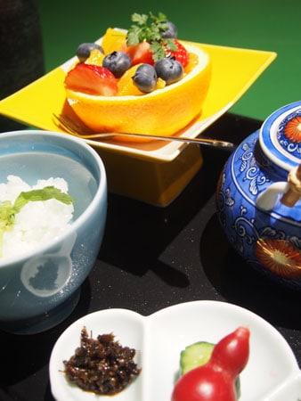 Dîner traditionnel japonais au Kinugawa Park Hotel