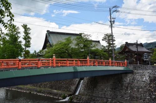 Le pont Imamiya à Hida Furukawa, Gifu