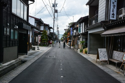 les rues sannomachi et ninomachi à Hida Furukawa, Gifu