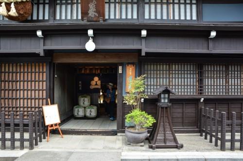 La brasserie de saké Watanabe à Hida Furukawa, Gifu