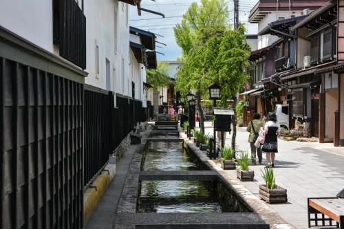 Le canal Setogawa dans Hida Furukawa, Gifu