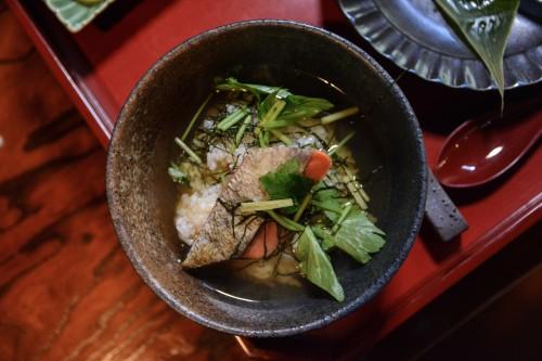le restaurant de saumon Idzutsuya, spécialité de Murakami dans la préfécture de Niigata au Japon