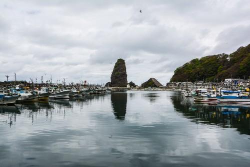 Le port de pêche de Neya proche de Gatsugi dans la préfecture de Niigata