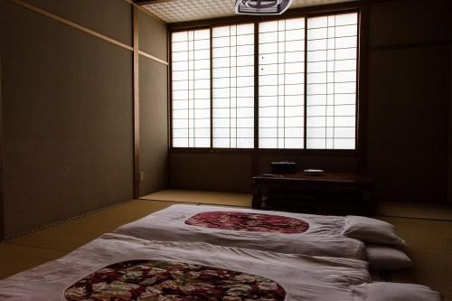 La chambre du minshuku takimoto sur l'île de Sado, Niigata