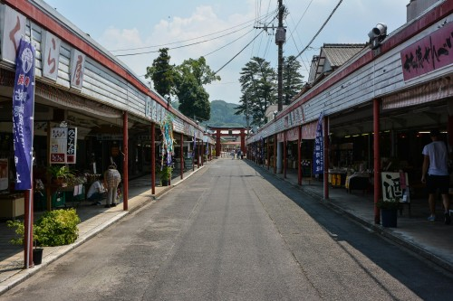 La rue principale avant d'accéder au Yutoku Inari