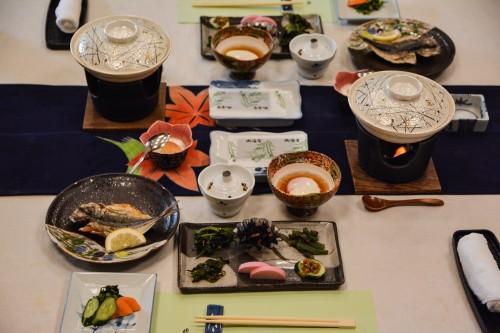 Dormir au ryokan de luxe Wataya à Karatsu dans la préfecture de Saga à Kyushu avec le petit dejeuner traditionnel