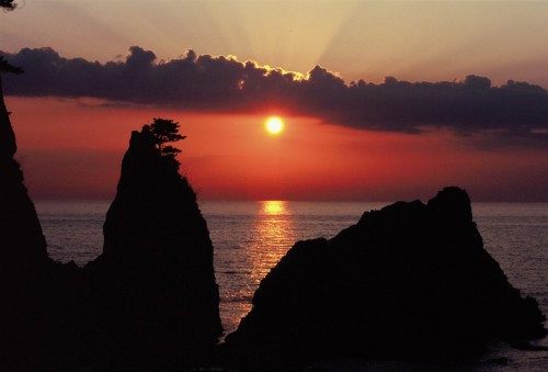 Plage de la préfecture de Niigata, Murakami donnant sur la mer du Japon