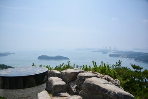 le point de vue de la mer intérieure de Seto depuis le Washuzan dans le parc national Setonaikai, Okayama, Japon