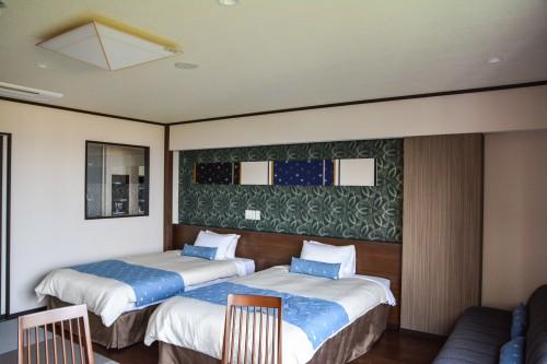 Lhôtel Washu Highland Hotel avec vue sur la mer intérieure de Seto à Kurashiki, Okayama, Japon